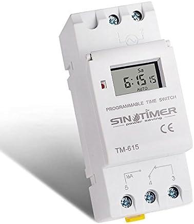 Temporizador de ciclo asim/étrico mini ON//OFF Tiempo de ciclo de repetici/ón Rel/é AC 230V GRT8-S1 Rel/é