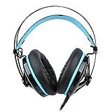 WYH Musik RGB-siebenfarbiges Atmungslicht-Gaming-Headset USB7.1-Kanal Schalldichte Ohrenschützer...