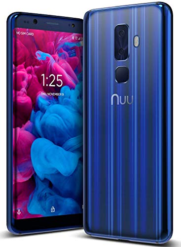 NUU MOBILE G3 Smartphone 5,7' (18:9) Dual Sim Dual Standby, 64GB, 4GB RAM, NFC, 13+5 Dual +13Mpx (Blu zaffiro)