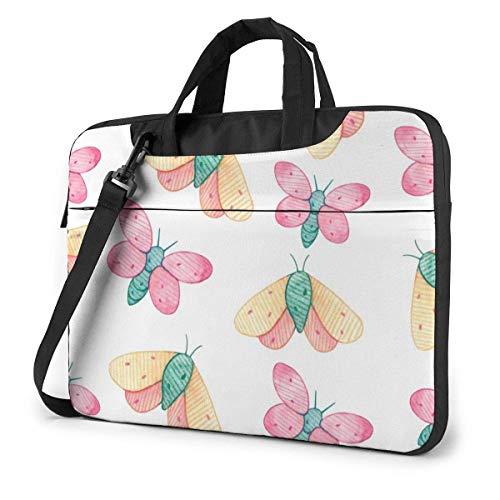 15.6 inch Laptop Shoulder Briefcase Messenger Butterfly Pattern Tablet Bussiness Carrying Handbag Case Sleeve