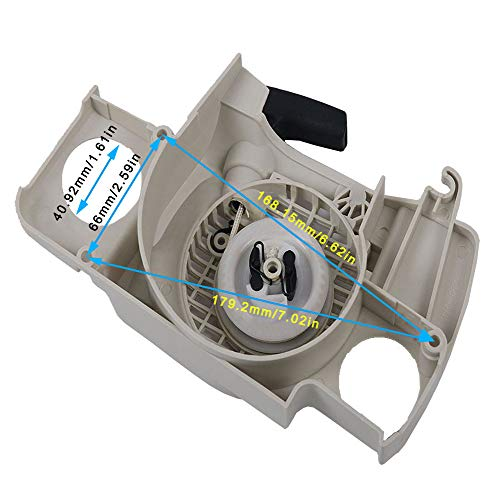 SaferCCTV Rewind Recoil Pull Starter Assembly with Start Handle Replacement for Stihl 017 018 Ms170 Ms180 Chainsaw Replacement Part# 1130 080 2100