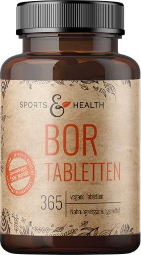 Bor Tabletten - 365 Tabletten Bor - Boron - 3mg Bor pro Tablette - Hochdosierte 3mg Bor Tabletten -