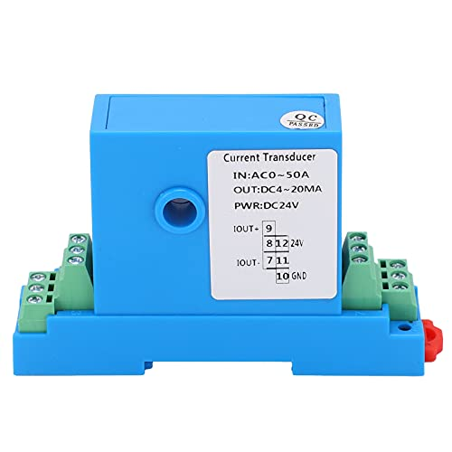 AC Current Transmitter, Anti-Interference, DC4‑20mA, AC0‑5A, Power Distribution Control Equipment, Suitable for Generators,Air Conditioners