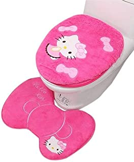 0877b26bb SOMITI | Toilet Seat Covers | 3PCS/Set Hello Kitty Bathroom Toilet Set Seat  Cover