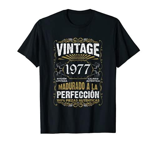 Regalo de 44 cumpleaños Vintage 1977 44 años Hombre Mujer Camiseta