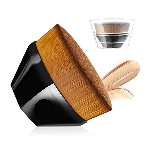 Huasida Pinceau à fond de teint liquide avec étui de rangement (noir brillant)