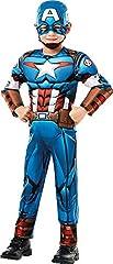 Rubie's 640833M Official Marvel Avengers Captain America Deluxe Child Costume, Boys, Medium Age 5-6, Height 116 cm #2