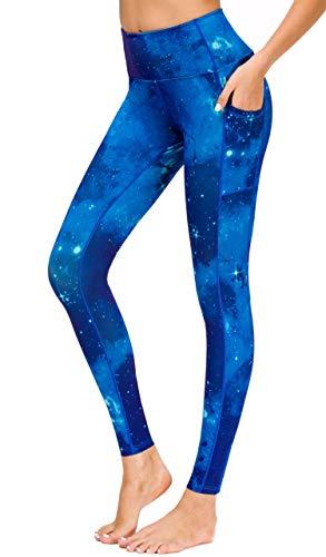 Flatik Damen Strumpfhose Sport Print Yoga Leggings Workout Fitness Running Pants