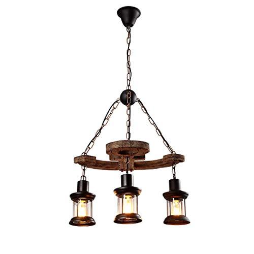 3 lámparas de araña Art Attic Bar candelabro para salón, comedor, estudio, iluminación interior, 55 cm de largo x 33 cm de alto, E27