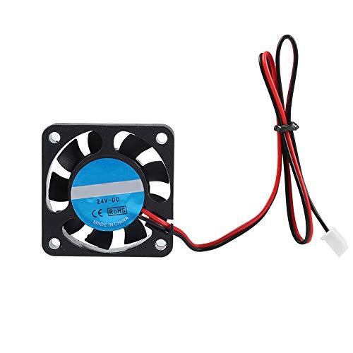 Ventilador de refrigeración de impresora 3D de 2 uds 24V 4010 7000RPM ventilador de refrigeración de extrusora de viento grande ventilador de refrigeración de impresora 3D de soplado silencioso