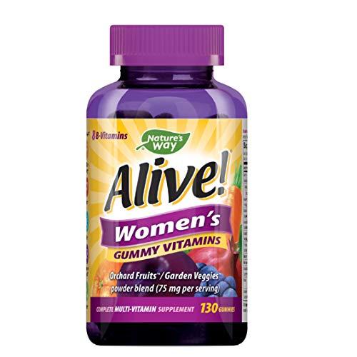 Nature's Way Alive! Women's Gummy Multivitamin, Full B Vitamin Complex, 130 Gummies