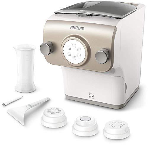Philips Avance Collection Plus Pasta Paker con Bilancia Integrata, 4 Trafile, 200 W, Plastica, Bianco/Champaign