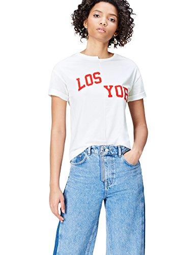 Marque Amazon - find. T-Shirt à Message Col Ras...