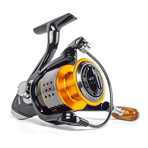 XIWAN Angelrolle FA1000-6000 No Gap Metall Spool Max Drag 8KG Pike Spinning Reel High Speed 5.2: 1 Reel Fishing Gear (Color : C, Size : 2000 Series)