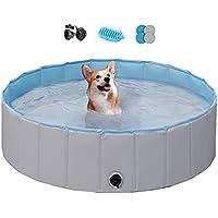 Yaheetech Foldable Hard Plastic Extra Large Dog Pet Pool