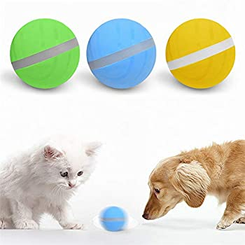 Wicked Ball Toy Actif Saut de balle Fun Interactive Teaser Toy pour animaux de compagnie chien chat avec Flash LED roulant, USB rechargeablectif pour Chien Chat Animaux