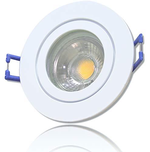 LED Bad Einbaustrahler 12V inkl. 1 x 3W LED LM Farbe Weiß IP44 LED Einbauleuchte Neptun Rund 3000K Deckenspot