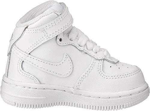 Nike NIKE Force 1 Mid Td 314197 113 Unisex - Kinder Sportschuhe, Bianco (White/White-White), 26 EU