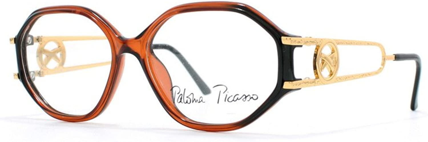 Paloma Picasso 3762 60 Brown Authentic Women Vintage Eyeglasses Frame