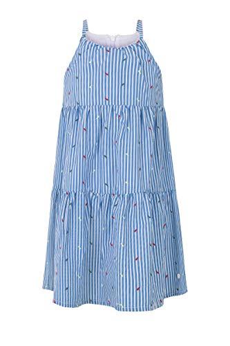 Marc O´Polo Girl Kids Kleid ohne Arm gr. 98 blau/weiß gestreift mit Stickerei (98)