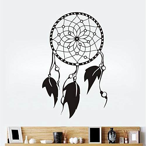 Personalidad simple patrón de plumas pegatinas de pared decoración del hogar dormitorio pegatinas extraíbles calcomanías A6 95x59cm