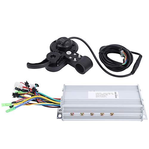 DAUERHAFT Controlador de Bicicleta eléctrica de Alta robustez LH100 60V de Mano de Obra Fina Controlador de Velocidad de Bicicleta eléctrica, para Competencia de Entrenamiento(1000W)