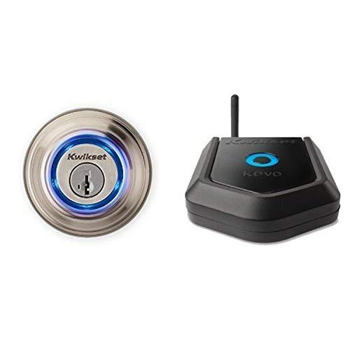 Kwikset Kevo (2nd Gen) Touch-to-Open Bluetooth Smart Lock in Satin Nickel...