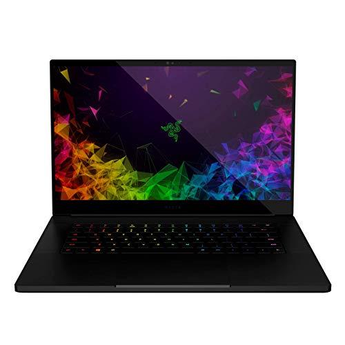 "Razer Blade 15 Gaming Laptop - Intel Core i7-8750H 6 Core, GeForce RTX 2070 Max-Q, 15.6"" 4K UHD Touch, 16GB RAM, 512GB SSD, Chroma RGB Keyboard, Thunderbolt 3, 0.70"" thin, CNC Aluminum"