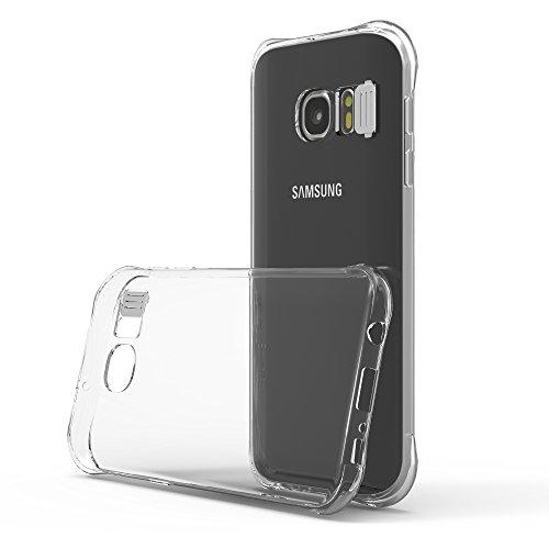 Preisvergleich Produktbild Cadorabo Hülle für Samsung Galaxy S7 - Hülle in Star TRANSPARENT Handyhülle aus TPU Silikon im LED-Blitzlicht-Design - Silikonhülle Schutzhülle Ultra Slim Soft Back Cover Case Bumper
