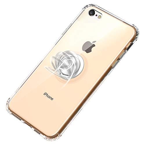 Funda iPhone 6 / 6S Plus Transparente Ligero Protective Carcasa Fabricado con un TPU Metal en Case Anti-Rasguño y Caso iman Soporte Cover para iPhone 6 / 6S (iPhone 6 Plus / 6S Plus, Transparente)