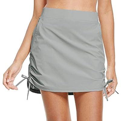 BALEAF Women's Tennis Pockets Skort Casual Skirts UPF 50 Hiking Skort High Waisted Active, Outdoor Gray S