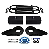 Supreme Suspensions - Full Lift Kit for 1997-2004 Ford F-150 Adjustable 1' to 3' Front Lift MAX-Torsion Keys + 2' Rear Lift Blocks + Round Bend U-Bolts 4WD