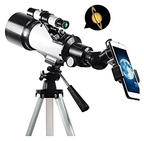 ASY Telescopios Telescopio Refractor De Astronomía con Trípode Ajustable Clip para Teléfono Telescopio Portátil para Niños, Adultos, Principiantes, Fácil De Montar Y Usar