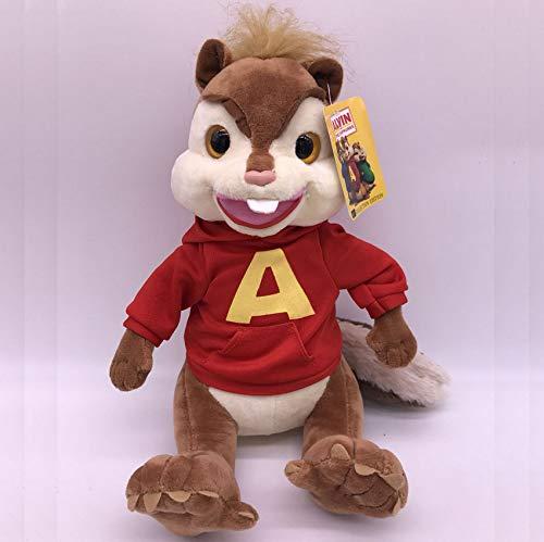 DOUFUZZ Alvin e Il Chipmunks Alvin Morbido Peluche Giocattoli topora Bambole per Bambini Coppie Compleanno Compleanno Regalo di Compleanno 25cm Rosso