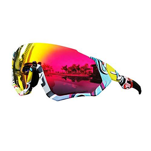 SOHOP Gafas de sol deportivas, para ciclismo al aire libre, gafas de sol anti-UV con marco TR90, deportes antirreflejos, gafas de protección de ojos polarizadas para mujeres y hombres