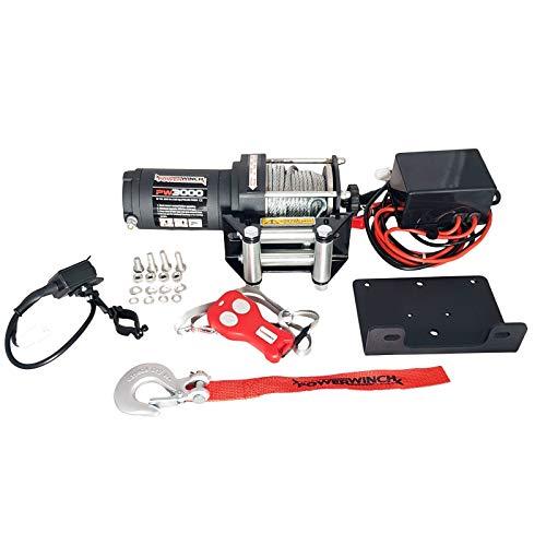 Powerwinch Elektrische Seilwinde PW3000 lbs 12V 1361 kg UTV Quad Wohnmobile Anhänger
