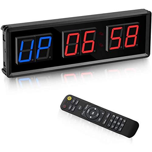 Camisin Temporizador de Gimnasio, Temporizador de Intervalo LED, Reloj de Pared con Cuenta Regresiva Digital, Reloj de 1,5 Pulgadas hacia Abajo/Arriba, CronóMetro para el Hogar
