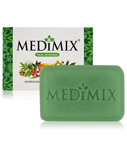 10 MEDIMIX Ayurvedische Seife, 75 g, mit Extrakt aus 18 starken Kräutern, schützt vor Hautproblemen, Akne und Juckreiz (10 Stück)