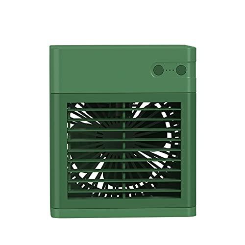 Enfriador de Aire humidificador de Escritorio,humidificador de refrigeración silencioso, Ventilador de refrigeración por Agua, Aire Acondicionado pequeño de Escritorio (Color : Verde)