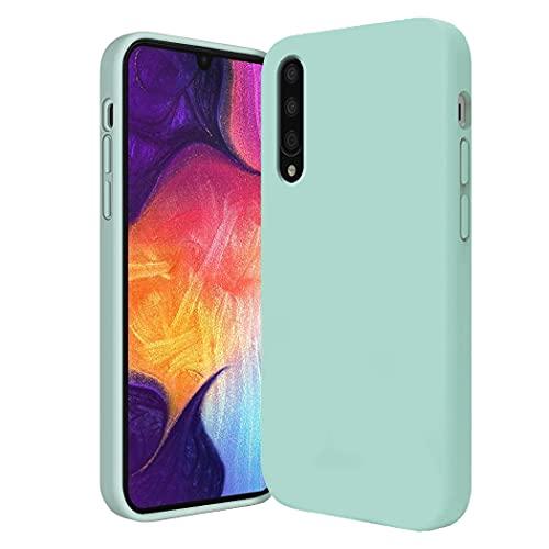 Carcasa compatible con Samsung Galaxy A70 de silicona líquida, carcasa Samsung A70 suave, antideslizante, funda Samsung A70 (azul, Samsung A70)