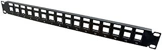 C2G 03858 16-Port Blank Keystone/Multimedia Patch Panel, Black