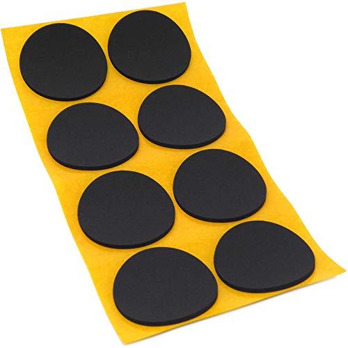 8 x Antirutsch Pads aus EPDM/Zellkautschuk | rund | Ø 50 mm | Schwarz | selbstklebend | Rutschhemmende Pads inTop-Qualität (2.5 mm)