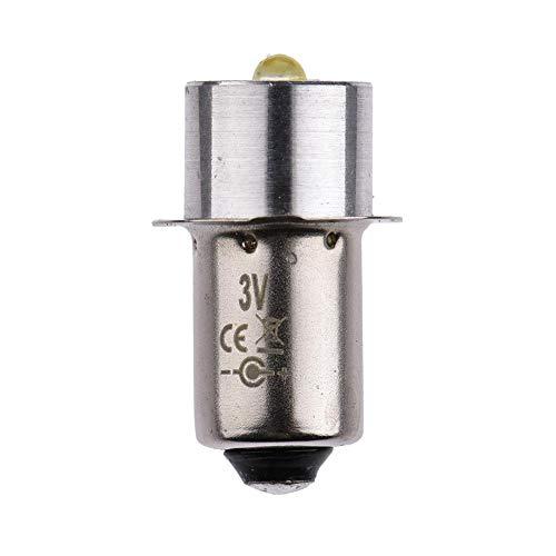 Minear LED Taschenlampe Energiesparlampe P13.5S Weißes Licht für den Austausch der Innenbeleuchtung, Fahrradbeleuchtung, Taschenlampen