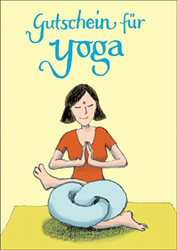 Humoristische yoga-tegoedbon (blanco): tegoedbon voor yoga • ook voor direct verzenden met uw persoonlijke tekst als inlegger. • Mooie premium wenskaart met envelop voor beste vrienden en lievelingsmensen.