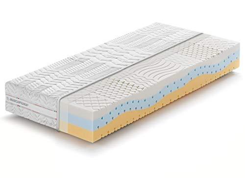 Marcapiuma - Materasso Singolo Memory 80x190 alto 23 cm - ONDA MED - H2 Medio/Morbido effetto Relax 11 zone - Dispositivo Medico Rivestimento Silver sfoderabile con filo d'Argento 100% Made in Italy