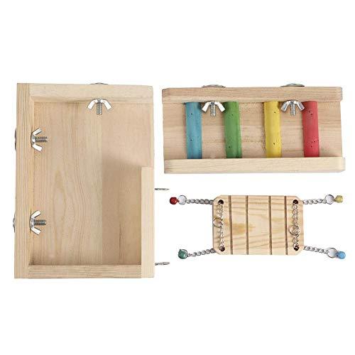 Hamster Houten schommelplatform Ladder Springend speelgoed voor kleine dieren Hamster Vogelkooi-accessoires