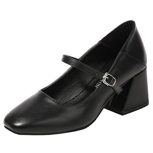 Lydee Moda Mujer Court Zapatos Tacon Medio Clasico Oficina Pumps Heels Fiesta...
