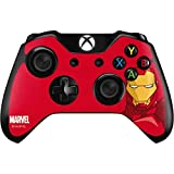 Skinit Decal Gaming Skin Compatible with Xbox One Controller - Officially Licensed Marvel/Disney Ironman Face Design