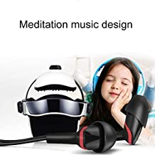 CattleBie Electronic Air Pressure Head Massager, Relaxed Music Helmet Massager (Color : Clear)