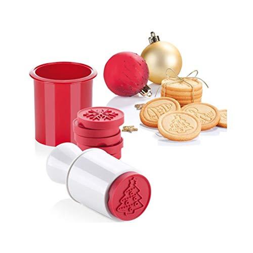 Juego de sellos de silicona para galletas de Navidad, 6 unidades, molde cortador de galletas, molde para galletas, moldes para repostería, molde para hornear DIY, herramientas para decoración de pasteles, suministros de cocina